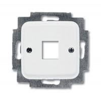 Корпус телефонной/компьютерной розетки (0210, 0211) альпийский белый Reflex SI