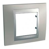 Рамка 1 пост металл, Никель  Unica top алюминий