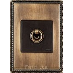 Рамка 1 пост бронза с квадратным вырезом venezia metal (Fontini)