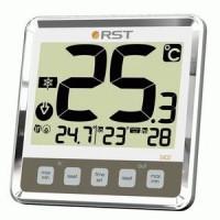 Термометр цифровой для пластиковых и деревянных окон(термометр,ice alert, индикатор сост.батарей) цвет хром