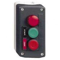 Трёхкнопочный пост управления с кнопками зеленый/красной с маркировкой