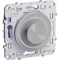 Светорегулятор поворотный универсальный 20-420Ва алюминий Odace