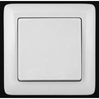 Выключатель 1 клавишный белый ХИТ