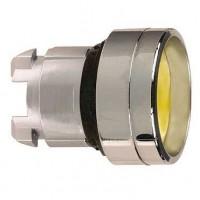 Головка для кнопки жёлтая 22 мм утопленная с возвратом