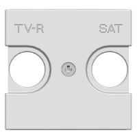 Накладка для TV-R-SAT розетки  2-модульная  Zenit альпийский белый