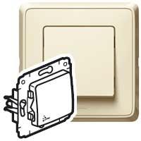 Выключатель 1 клавишный IP44   слоновая кость Cariva