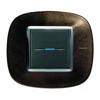 Рамка 2 модуля  эллипс кожа кофе (Bticino)