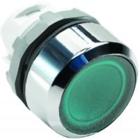 Кнопка зеленая с подсветкой без фиксации ( только корпус ) тип MP1-21G