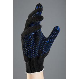 Перчатки 5нитка х/б с ПВХ черные