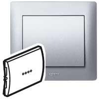 Клавиша для выключателя/переключателя 1 клавишного с индикацией алюминий Galea Life
