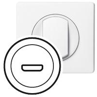 Накладка для розетки аудио/видео HDMI белый Celiane