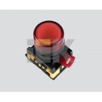 Светосигнальный индикатор неон/230В AL-22TE желтый d 22мм цилиндр