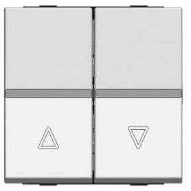 Выключатель жалюзи кнопочный 2 модуля шампань Zenit