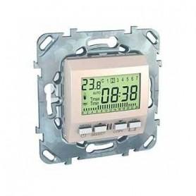 Термостат электронный  программируемый 8А бежевый Unica