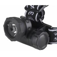 Фонарь-светодиод, налобный, 3хААА черный