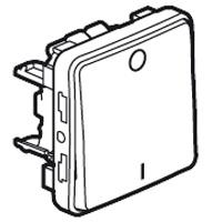 Двухполюсный выключатель встраиваемый 10A, белый IP 55  Plexo