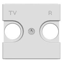 Накладка розетки TV-R 2 модуля белый Zenit