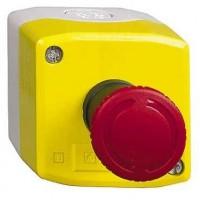 Кнопочный пост управления с красной кнопкой аварийного останова 22мм 1НЗ с фиксацией возврат поворотом