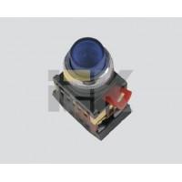 Кнопка управления зеленая неон/230В d22мм 1з+1р IP40 тип ABLFP-22
