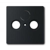 Накладка для антенной розетки TV+FM+SAT solo/future черный бархат