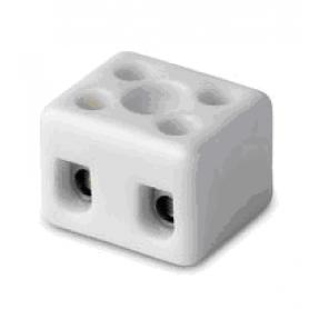 Клеммник керамический с отв. для фиксации, 2 пол., 6-16 кв.мм