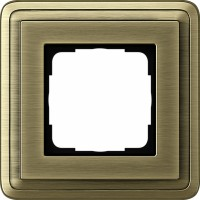 Рамка 1 пост бронза/бронза CassiX