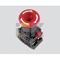 Кнопка управления Грибокс фиксацией красная 230В d22мм 1з+1р IP40 тип ANE-22