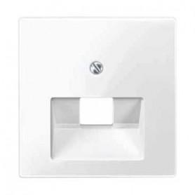 Накладка  для розетки компьютерной полярно белый  System M