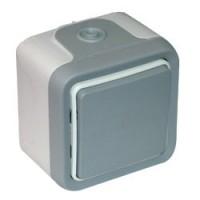 Переключатель промежуточный 10 А серый Plexo
