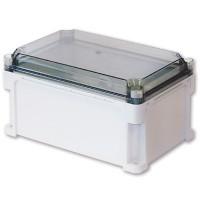 Корпус 600х400х160 сплошные стенки, прозрачная крышка 35 мм, IP67