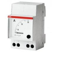 Амперметр аналоговый модульный прямого включения для измерения переменного тока со шкалой до  10А серия AMT 1/10