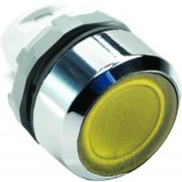 Кнопка желтая с подсветкой без фиксации  ( только корпус ) тип MP1-21Y