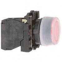 Кнопка красная с прозрачным силиконовым защитным колпачком 22мм 1НЗ с возвратом