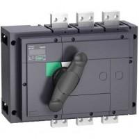 Выключатель-разъединитель 3-пол. 1600А с черной ручкой INTERPACT INS1600