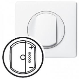 Накладка для светорегулятора нажимного с индикацией белый Celiane