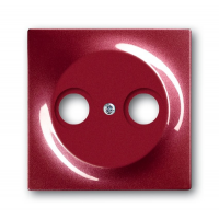 Накладка для антенной розетки TV+FM бордо Impuls