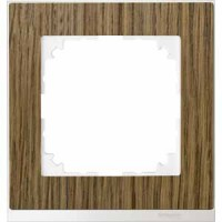 Рамка 1 пост дуб с белой вставкой M-Pure Decor