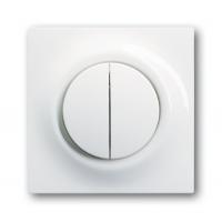 Клавиша для выключателя/переключателя 2 клавишного с лампой подсветки альпийский белый Impuls