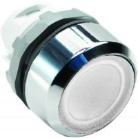 Кнопка белая с подсветкой без фиксации  ( только корпус ) тип MP1-21W
