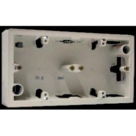 Коробка 2 поста для накладного монтажа слоновая кость Valena