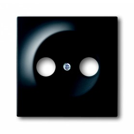Накладка для розетки телевизионной TV+FM черный бархат Impuls