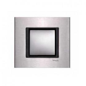 Рамка 1 пост серебристый алюминий Unica Class