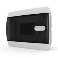 Бокс встраиваемый 6мод. белый с прозрачной черной дверью и шинами IP40 (Россия) Tekfor CVK 40-06-1