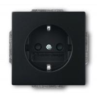 Розетка 2P+E серия solo/future черный бархат (замена на 2011-0-6211)