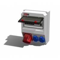 Alpenbox, розетка 32А/400В/5П/IP44 - 1 шт, розетка встр 16А/250В/3П/IP54 - 2 шт