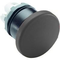 Кнопка грибок черная (только корпус) без фиксации 40мм тип MPM1-20B