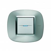 Рамка 2 модуля  эллипс Зеркальный алюминий Axolute (Bticino)