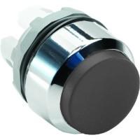 Кнопка черная  выступающая без подсветки без фиксации ( только корпус ) тип MP3-20B