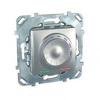 Термостат для теплого пола с датчиком 10А от+5 до +45 С алюминий Unica Top