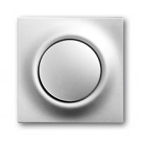 Клавиша для выключателя/переключателя 1 клавишного с подсветкой серебристый металлик Impuls